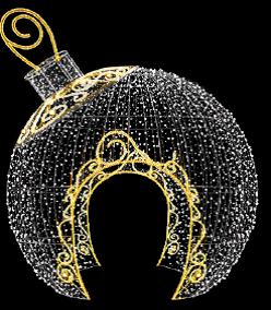 Struttura passante sferica natalizia