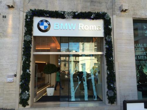 Decorazione facciata BMW Roma
