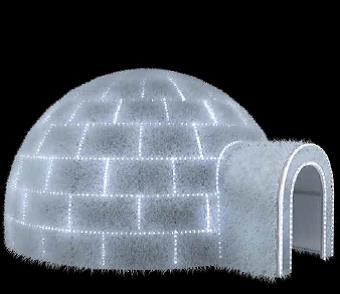Struttura luminosa ad igloo